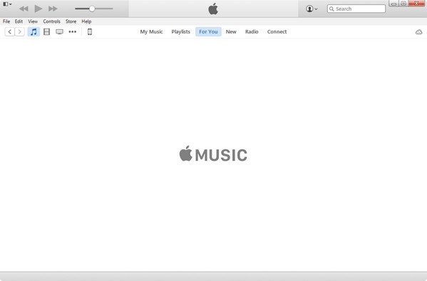 Interface of iTunes