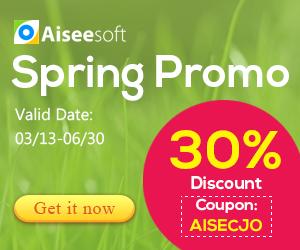 Soldes de 30% sur logiciels Aiseesoft sur store Avangate & 2checkout
