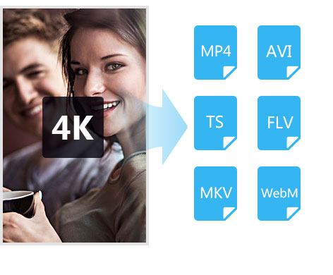 Convert 4K video to more popular video formats