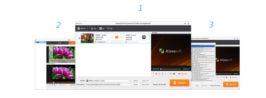 Converti video 4K