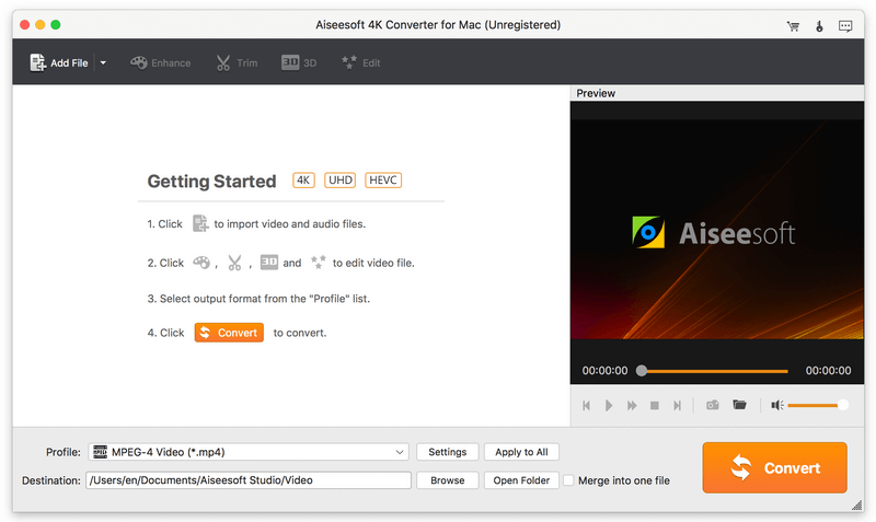 Free download Aiseesoft 4K Converter for Mac