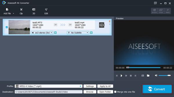 Konwertuj wideo na 4K