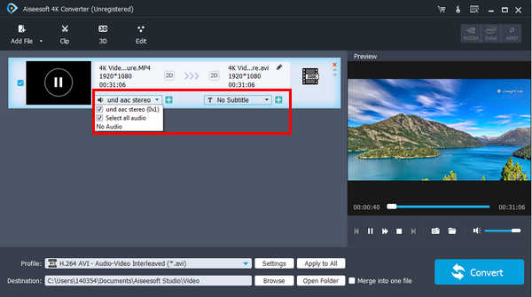 Easy guide of aiseesoft 4k converter choose the suitable output video format and save the video file ccuart Choice Image