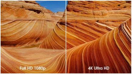 4K VS 1080 p