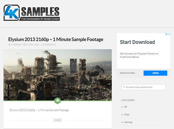 4k video mp4 sample download