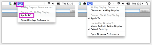 AirPlay Mirroring on Mac