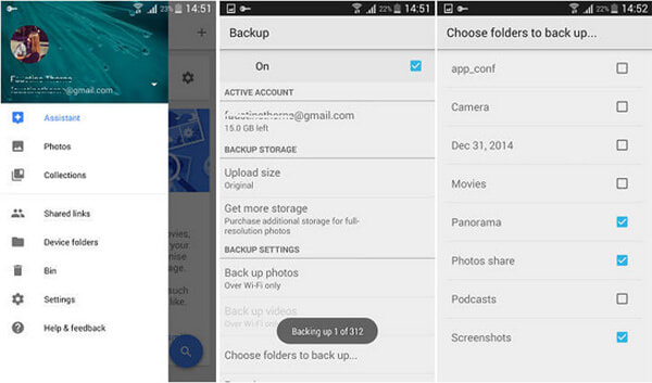 Esegui il backup di immagini Android con Google Foto
