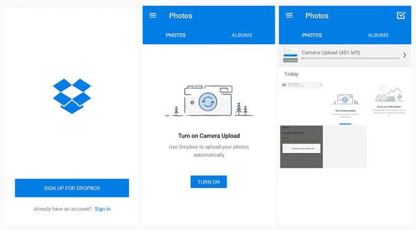 Backup di foto Android con DropBox