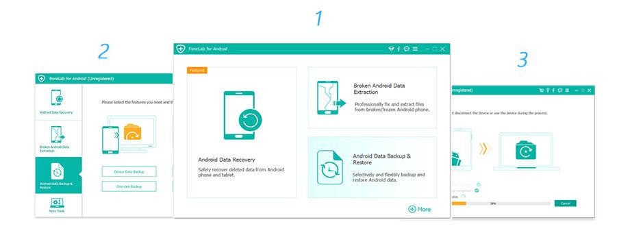 Eseguire il backup dei dati Android