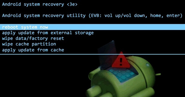 Android Recovery Mode Available Options
