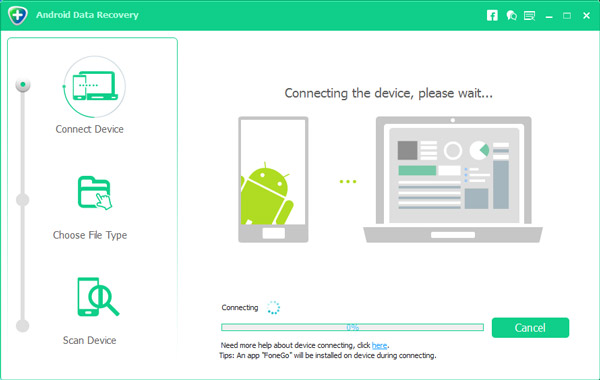 Συνδέστε το Android με την ανάκτηση δεδομένων Android