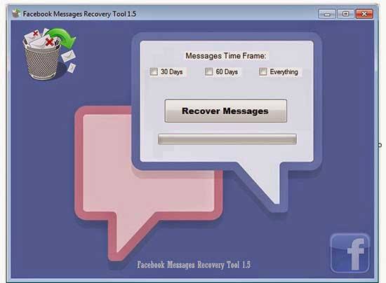 Facebook messages recovery tool