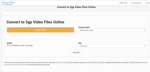 Conversione file