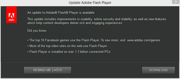 Update Adobe Flash Player