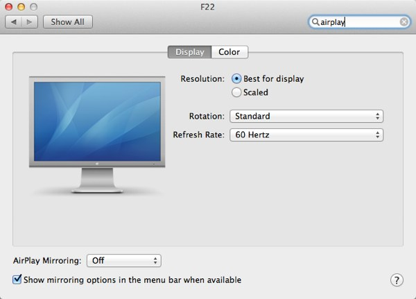 AirPlay dal Mac alla TV