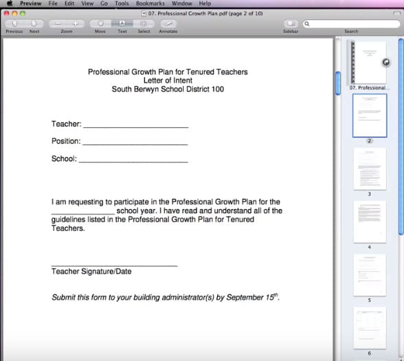 Apri un file PDF su Anteprima