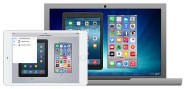Specchio iPad per TV con riflettore