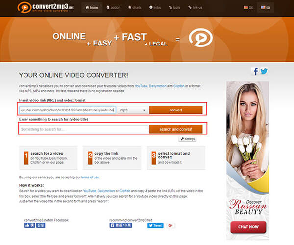 convert2mp3 download videos