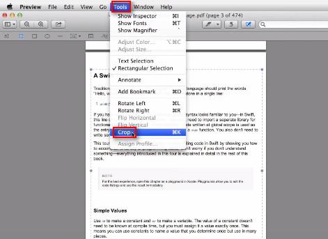 Ritaglia pagina di PDF