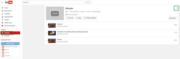 How to delete a youtube videovideosplaylistchannel select youtube playlist ccuart Image collections