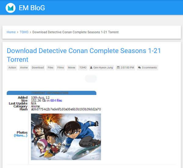 Ντετέκτιβ Conan Episode Torrent