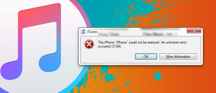 Σφάλμα iTunes 3194
