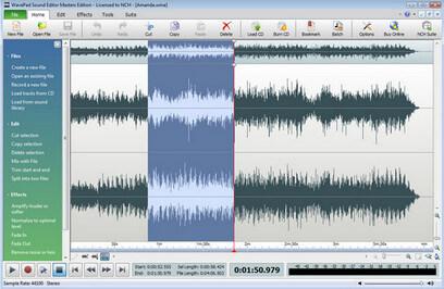 Software di editing audio WavePad - Editor musicale dettagliato