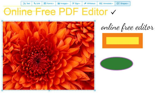 Online PDF Editor - Edit PDF Page/Text/Image Online
