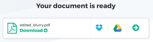 Salva PDF modificato