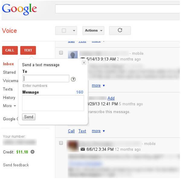 Ανοίξτε τα Μηνύματα με το Google Voice