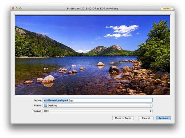 Εκτύπωση οθόνης Mac με SharpShooter