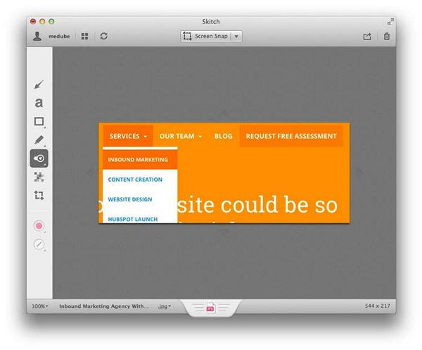 Εκτύπωση οθόνης Mac με Skitch