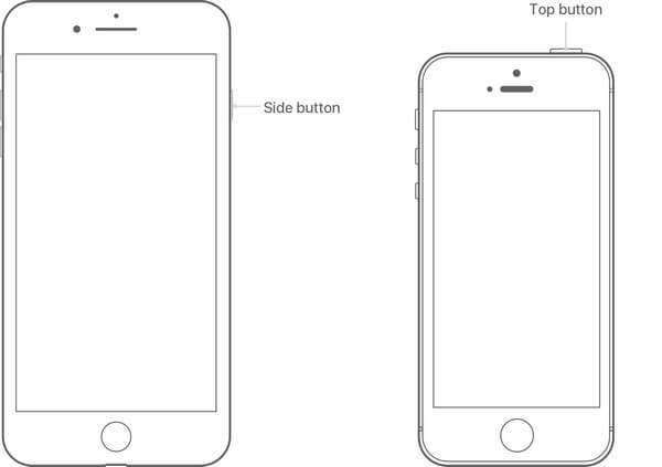 Posizione del pulsante di accensione su iPhone