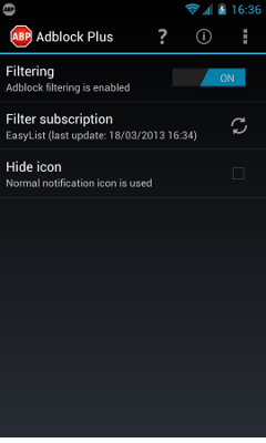 Adblock Plus για Android