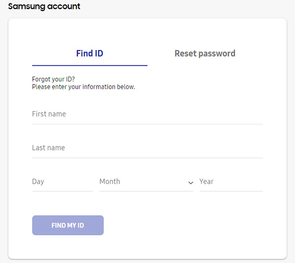 Recupera l'ID dell'account Samsung