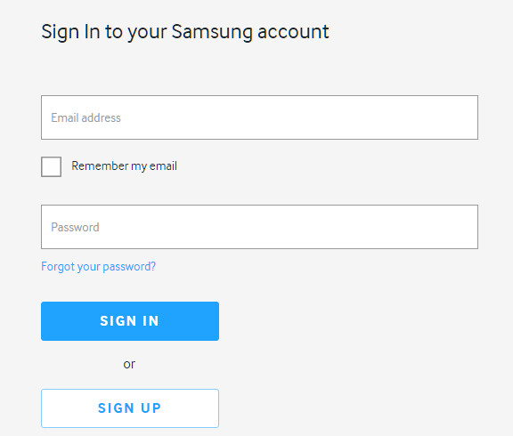 how to set up a samsung account