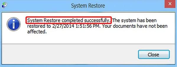 Rozpocznij przywracanie systemu