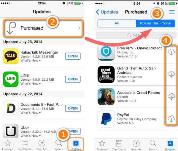 Scarica le app per iPhone