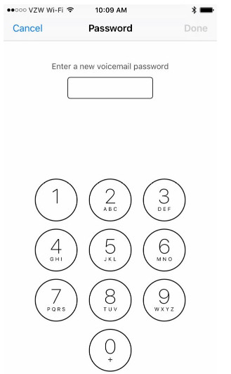 Reset iPhone Voicemail Password