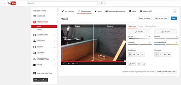 Modifica video su YouTube