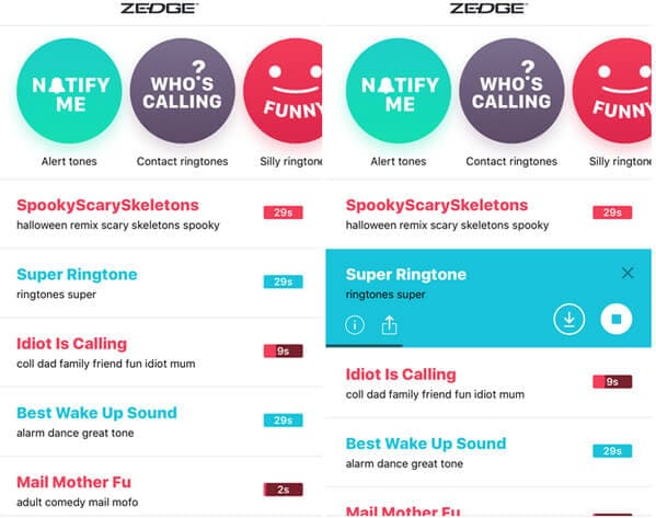 download zedge ringtones to iphone