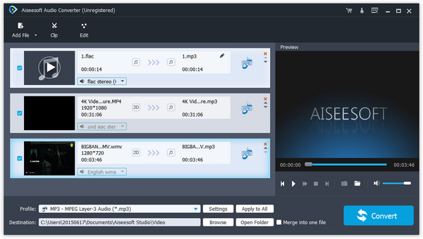 Aiseesoft Audio Converter Screen shot
