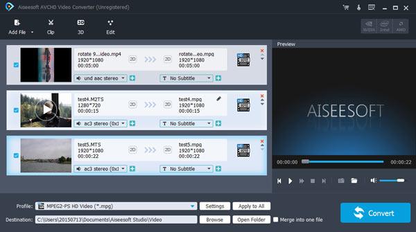 Converti video AVCHD in MOV