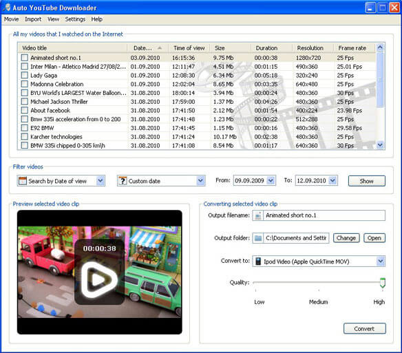 Downloader YouTube automatico