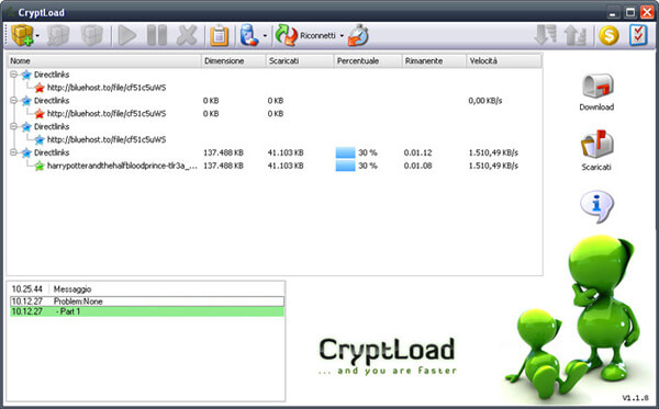 scarica video con CryptLoad