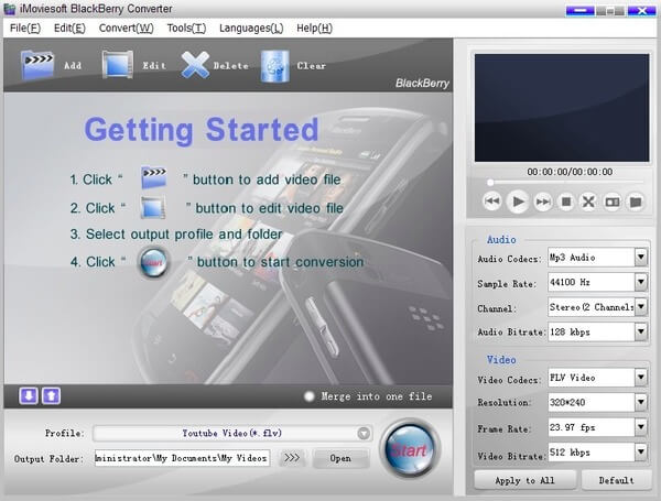 iMoviesoft BlackBerry Converter for Mac