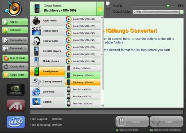 Δωρεάν μετατροπέας BlackBerry IQmango