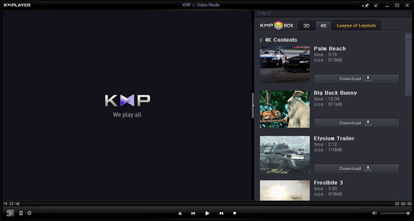 KMPlayer per MP4 Player
