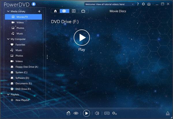 Riproduci DVD con PowerDVD
