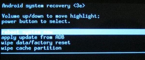 Οθόνη αποκατάστασης συστήματος Android